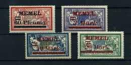 MEMEL 1921 Nr 36-39 Haftstelle/Falz (110197) - Memelgebiet