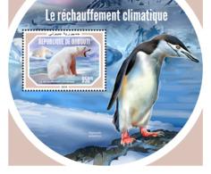Djibouti 2018   Fauna  Global Warming   Polar Bear  ,penguins   S201901 - Djibouti (1977-...)
