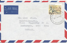 Australia Air Mail Cover Sent To Denmark Fitzroy 13-7-1982 Single Franked - 1980-89 Elizabeth II