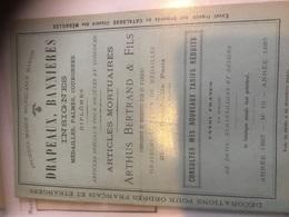 Catalogue Publicitaire 32p Anc.maison Michel Ange Marion 1887 Drapeaux Insignes Médailles... - Pubblicitari