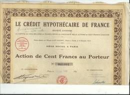Action Et Titre Le Credit Hypothecaire De France  No 041.001 - Other