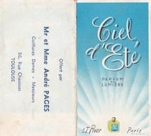 Carte Parfumée Ciel D Ete Parfum De Lumiere LT Piver André Pages Coiffeur Toulouse - Perfume Cards
