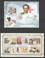 I575 2008 GUINE GUINEA-BISSAU DISCOVERIES IN MEDICINE 1KB+1BL MNH - Medicina