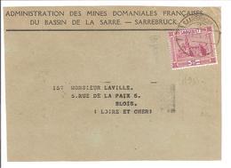 Administration Des Mines Domaniales Françaises Sarrebruck-Saarbrücken. - 1920-35 Saargebiet – Abstimmungsgebiet