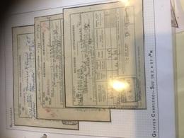 GRIFFE CHARLEROI SUD Sur Récépissé Sncb 2,4 Et 7 Mm Lot De 3 à Voir - Postmark Collection