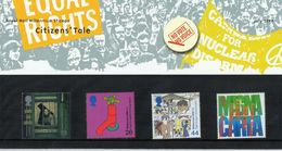 GB GREAT BRITAIN 1999 MILLENNIUM CITIZEN'S TALE PRESENTATION PACK No 300 + ALL INSERTS HUMAN EQUAL RIGHTS VOTES WATER - 1952-.... (Elisabetta II)