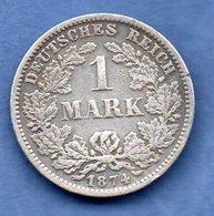 Allemagne  -  1 Mark 1881 F - état  TB+ - [ 2] 1871-1918: Deutsches Kaiserreich
