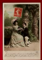 Jolie CP Ancienne Colorisée Couple Je Me Sens Plein D'émoi ... Ed Circé 4306 - Couples