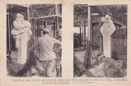 Militaire Cantine Des Deux Drapeaux Permissionnaires Croix Rouge Americaine Sculpture Promenoir Le Vin Et L Amour Poilus - Barracks