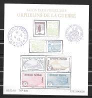 2018 - Orphelins De  Guerre - Paris Philex - Sheetlets
