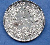 Allemagne  -  1 Mark 1914 J - état  SUP - [ 2] 1871-1918: Deutsches Kaiserreich