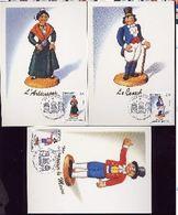 MONACO Carte Maximum - Santons 1991 - Cartes-Maximum (CM)