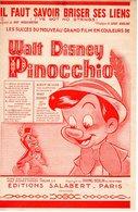 WALT DISNEY - RARE ET BELLE SERIE COMPLETE DES 7 PARTITIONS PINOCCHIO - 1940 - ETAT EXCEPTIONNEL - - Scores & Partitions