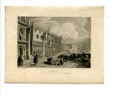 Piece Sur Le Theme De Eau Forte - Venise - Itineraire De Paris A Jerusalem - Nyon Et Schroeder - Vieux Papiers