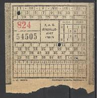 Hungary,  Budapest , Section Ticket, '50s - Europe