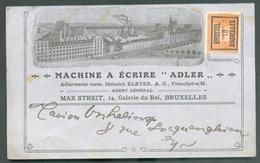 1 Centime PELLENS Obl. Préo BRUSSEL BRUXELLES 13 Sur Carte Illustrée (MACHINE A ECRIRE ADLER - Max Streit 14, Galerie Du - Typos 1912-14 (Lion)