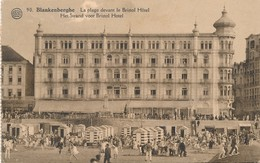 CPA - Belgique - Blankenberge - Blankenberghe - La Plage Devant Le Bristol Hôtel - Blankenberge