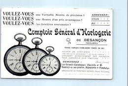 25 Besançon - Comptoir Général D'Horlogerie - Publicité - Saut Du Doubs Clichet TEULET - Besancon