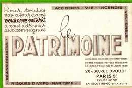 BUVARD & Blotter Paper : LE PATRIMOINE ASSURANCE .Blanc - Banque & Assurance