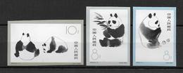 CHINA - 1963 - YVERT N°1493/1495 NON DENTELES ** MNH (VOIR DESCRIPTION) - COTE YVERT = 400 EUR - PANDA - Nuovi