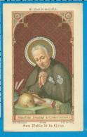 Holycard    St. Paulus Of The Cross - Santini