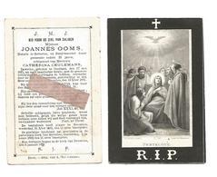 D 481. JOANNES OOMS - Notaris  En Burgemeester Te BEVERLOO - °OOSTHAM 1825 / +BEVERLOO 1881 - Images Religieuses