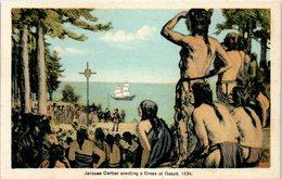 Jacques Cartier Erecting A Cross At Gaspé, 1534 - CANADA - Gaspé