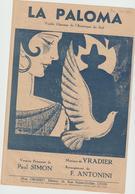 (GEO1) LA PALOMA ; Musique YRADIER , Version Française PAUL SIMON ; Illustration EM COCARD - Scores & Partitions