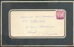 2Fr. Obl. Sc POSTERIJEN POSTES BPS 2 Sur Env. De Deuil Militaire (200me Cie Ordonnace Roger Stuzletti Né A Etterbeek)  D - 1953-1972 Lunettes