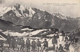 CPA - Chasseurs Alpins - Environs De Ste Foy - Le Mont Pourri 3788m Vu Du Lac Du Retour - Régiments