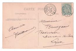 1905 - CACHET DE MANOEUVRES TRESOR ET POSTES 173 (BELLE FRAPPE) Sur BLANC 5c Sur CP VITRY LE FRANCOIS MARNE - Marcophilie (Lettres)