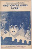 (GEO1) 24 HEURES D'oubli , Comédie   CAMILLE JACQUEMOT   ; Illustration EM COCARD - Scores & Partitions