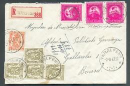 Affr. BELGICA ANTARCTIC De GERLACHE + LION à 4Fr50 (port Exact) Sur Enveloppe Recommandée Du Relais De TERALFENE * Le 2- - Postmark Collection