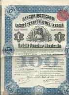 Action Et Titres  Credit Territorial Mexicano  No 47.077 - Actions & Titres