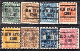 USA Precancel Vorausentwertung Preo, Locals Connecticut, New Havem 204, 8 Diff. Perf. 1 X 10x10 (Offset), 7 X 11x11 - Vereinigte Staaten