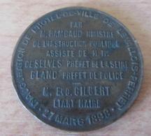 France - Médaille Inauguration Hôtel De Ville De Levallois-Perret Le 27 Mars 1898 - 10 Grammes - Diam. 29 Mm - Professionals / Firms