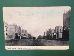 Cartolina First Street - Looking North - Little Falls - Minn. - 1917 - Cartoline