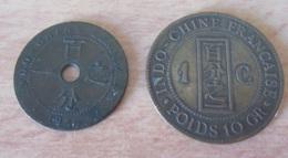 France / Indochine - 2 Monnaies 1 Centime 1888 Et 1922 - TB / TTB - Colonies