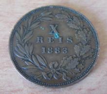 Portugal - Très Belle Monnaie X REIS 1883 D. Luiz I - TTB + / SUP - Portugal