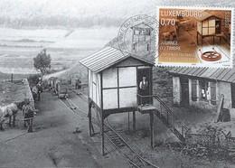 STATION DE FREINAGE  Téiteng Quätschebierg       Atelier Kraizbierg - Cartes Maximum