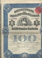 Action Et Titres  Credit Territorial Mexicano  No 29.545 - Actions & Titres