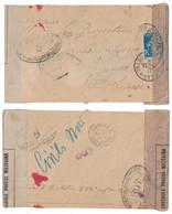 1917 - LETTRE SEMEUSE Pour LA SUISSE Avec BANDE Et MARQUE DE CENSURE CAD TRESOR ET POSTES 177 CONTROLE POSTAL WW1 - Marcofilia (sobres)