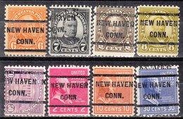 USA Precancel Vorausentwertung Preo, Locals Connecticut, New Havem 232, 8 Diff. Perf. 11x10 1/2 - Vereinigte Staaten