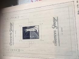 CONCERT YSAYE 1925-1926 Programme - Programs