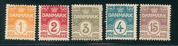 DANEMARK 1905 1913 N° 48 / 52  Filigrane A Dentelé 12 1/2 Tout état Voir Photo - 1905-12 (Frederik VIII)