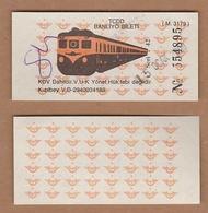 AC - COMMUTER RAIL - SUBURBAN RAIL TICKET 15 JANUARY 2000 ANKARA TURKEY - Sonstige