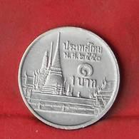 THAILAND 1 BAHT 2007-2550 -    KM# 183 - (Nº27850) - Thaïlande
