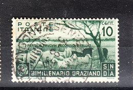 Italia   - 1936. Bimillenario Oraziano. 10 C. Viaggiato, Timbro Lusso - Usati