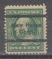 """USA Precancel Vorausentwertung Preo, Locals Connecticut, New Haven L-2 """", Perf. 12x12 - Vereinigte Staaten"""