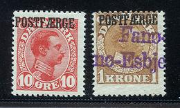 DANEMARK 1919 1922 N° 117 + 120 Surchargés POSTFÆRGE Tout état Voir Photo - 1913-47 (Christian X)